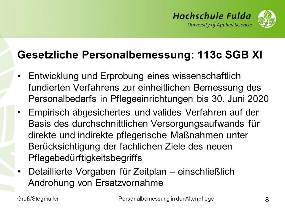 Gesetzliche Personalbemessung: 113c SGB XI