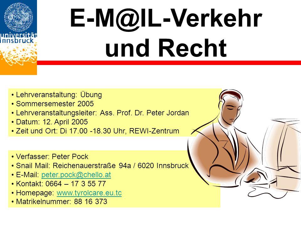 E-M@IL-Verkehr und Recht