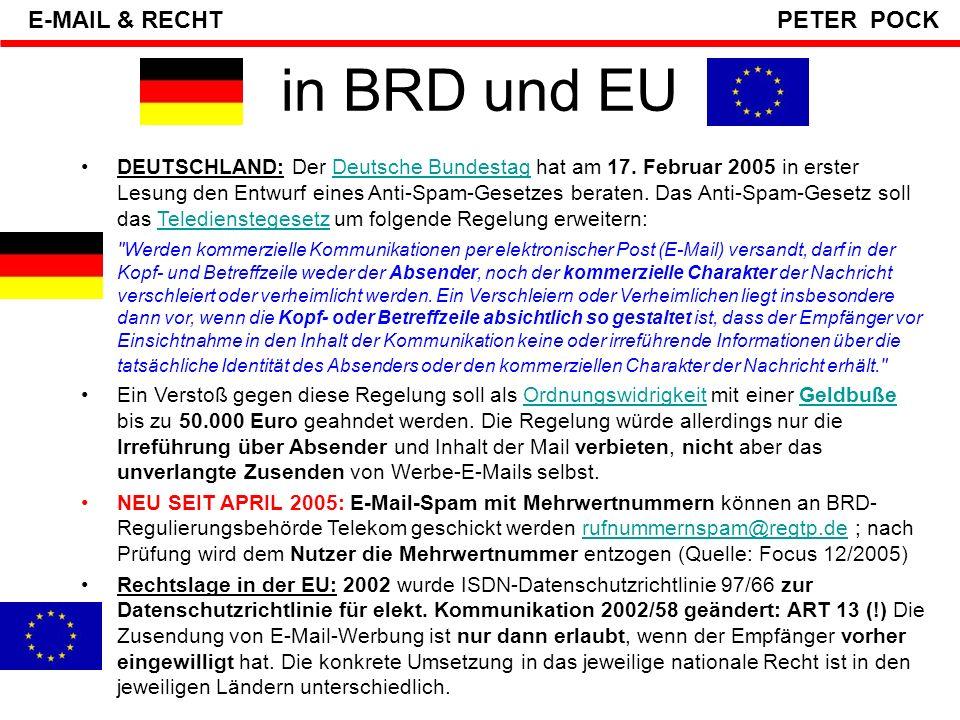 in BRD und EU E-MAIL & RECHT PETER POCK