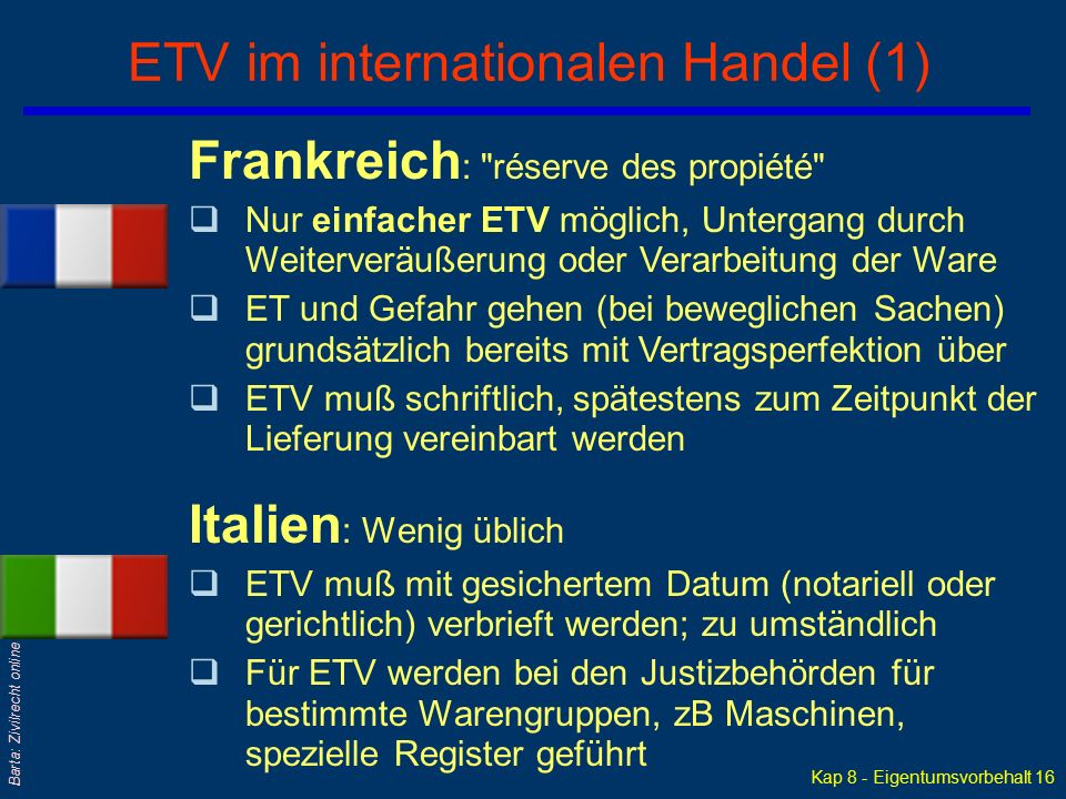 ETV im internationalen Handel (1)