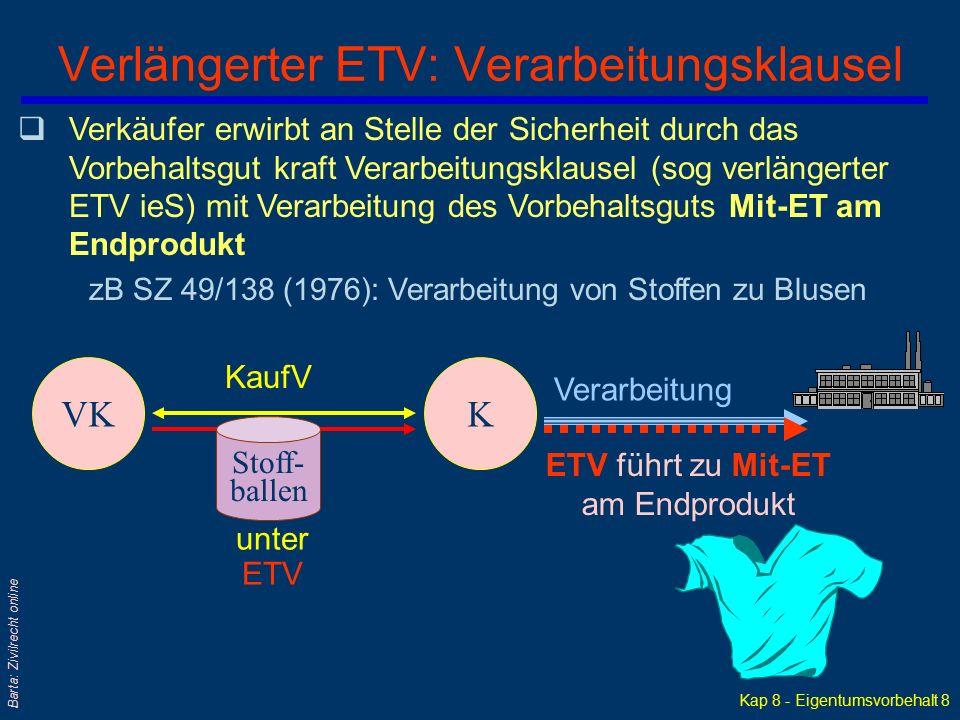 Verlängerter ETV: Verarbeitungsklausel