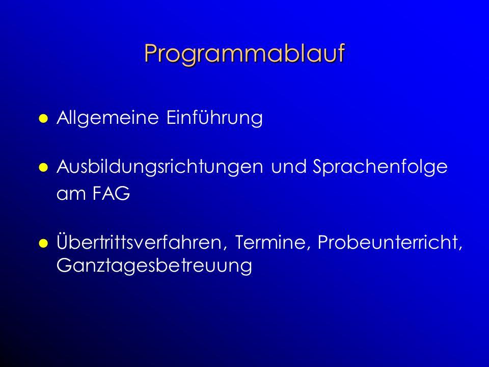 Programmablauf Allgemeine Einführung