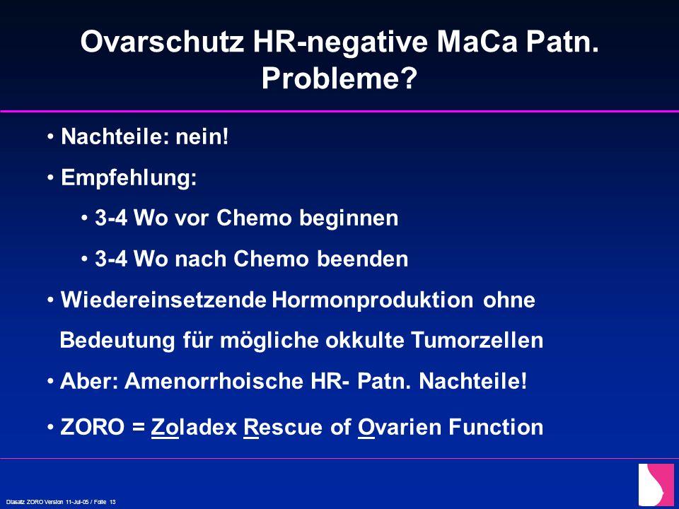 Ovarschutz HR-negative MaCa Patn.