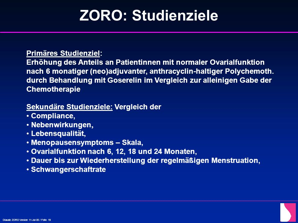 ZORO: Studienziele