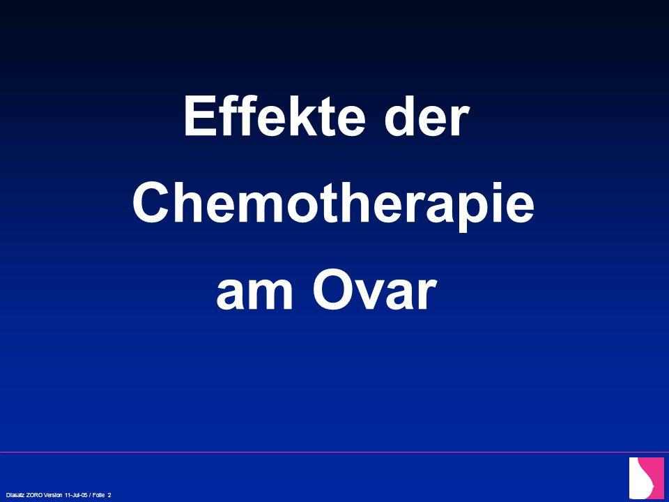 Effekte der Chemotherapie am Ovar