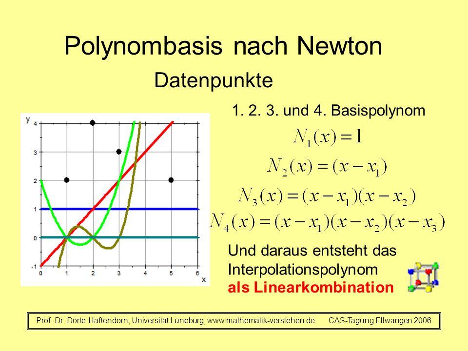 Polynombasis nach Newton