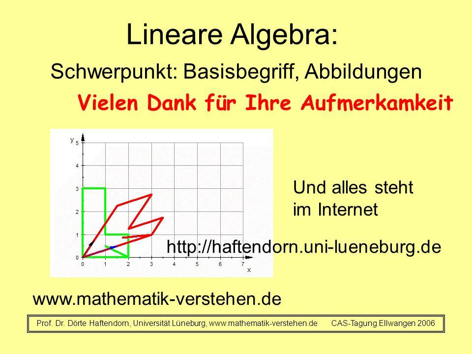 Lineare Algebra: Schwerpunkt: Basisbegriff, Abbildungen