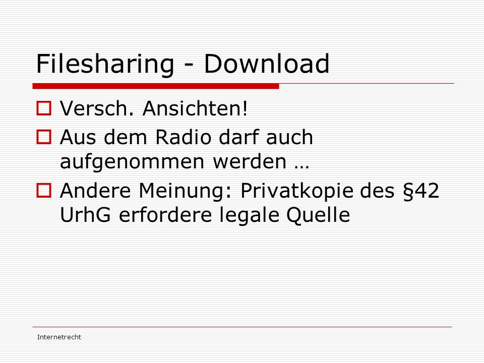 Filesharing - Download