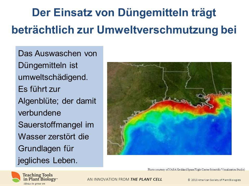 Der Einsatz von Düngemitteln trägt beträchtlich zur Umweltverschmutzung bei