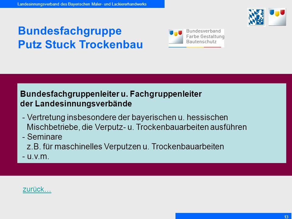 Bundesfachgruppe Putz Stuck Trockenbau