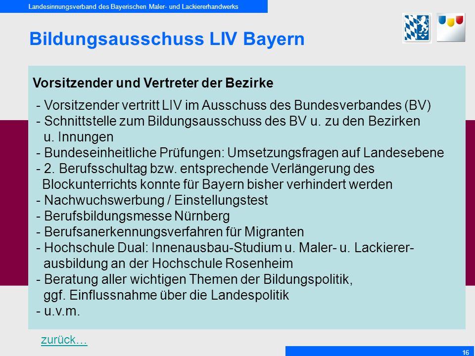Bildungsausschuss LIV Bayern