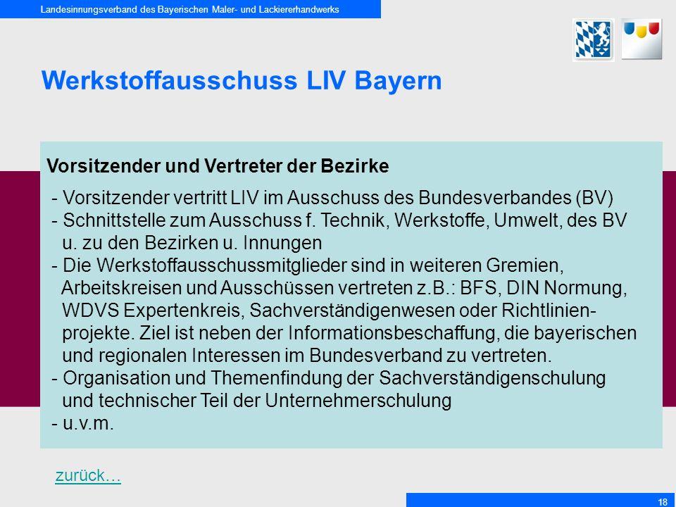 Werkstoffausschuss LIV Bayern