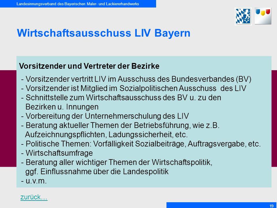 Wirtschaftsausschuss LIV Bayern