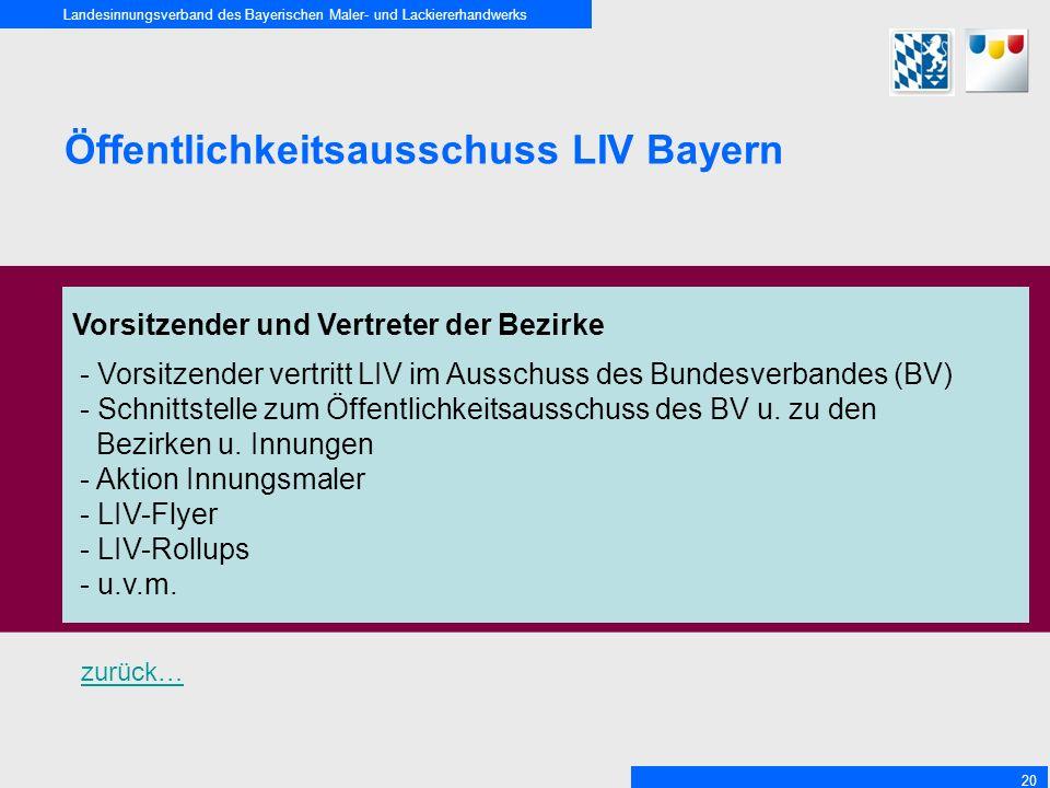 Öffentlichkeitsausschuss LIV Bayern
