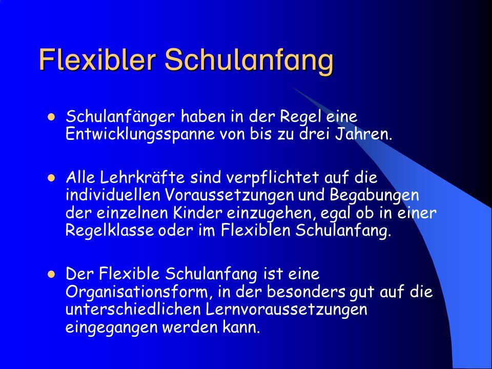Flexibler Schulanfang