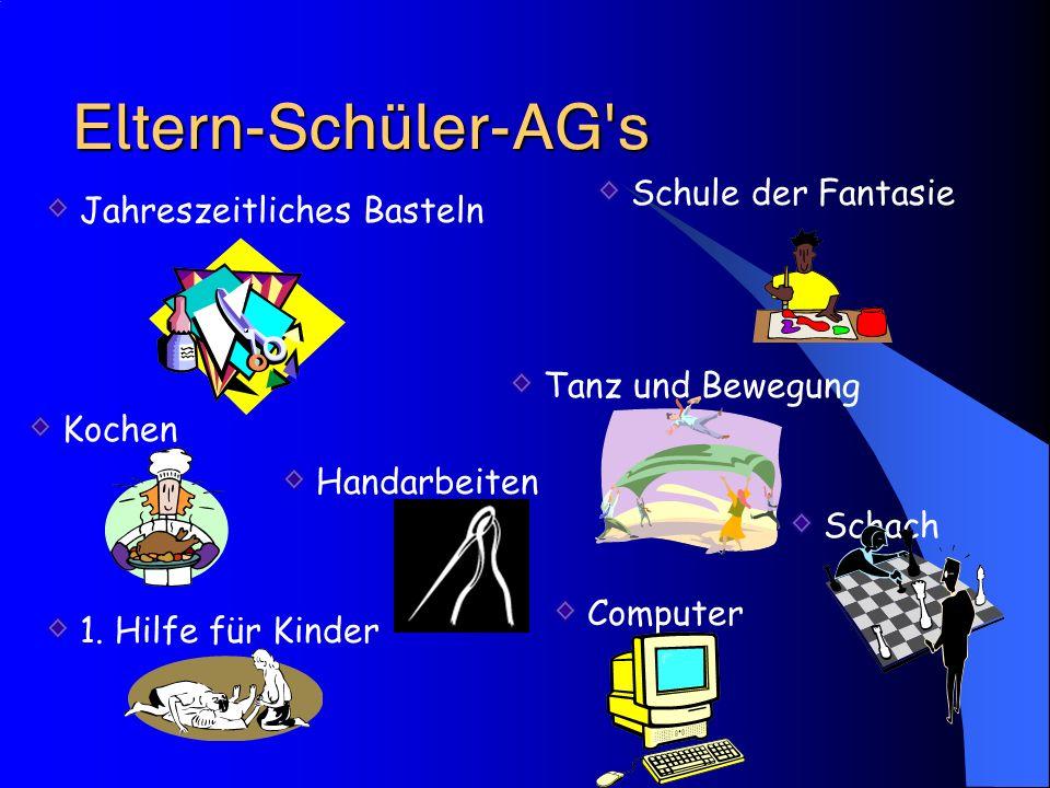 Eltern-Schüler-AG's Schule der Fantasie Jahreszeitliches Basteln