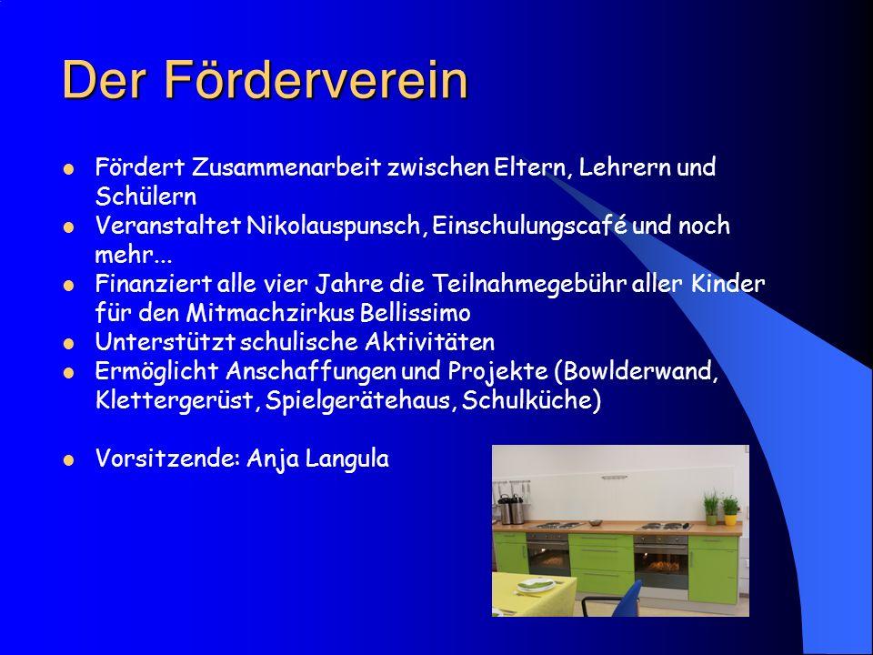 Der Förderverein Fördert Zusammenarbeit zwischen Eltern, Lehrern und Schülern. Veranstaltet Nikolauspunsch, Einschulungscafé und noch mehr...