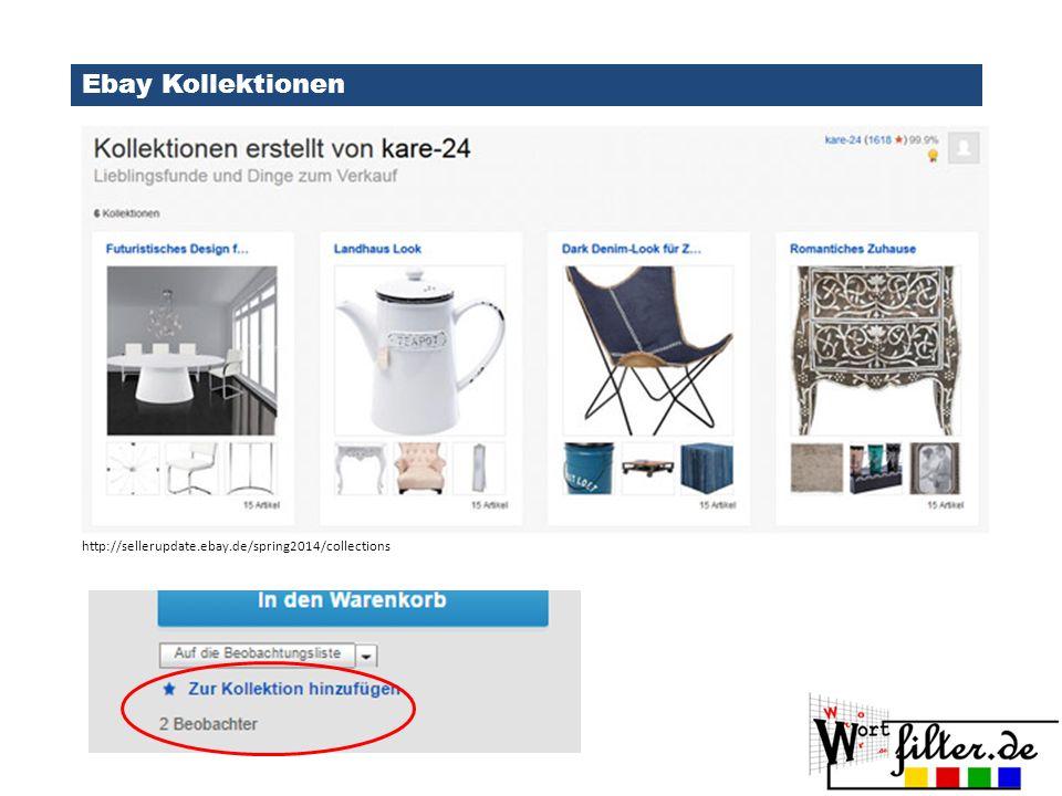 Ebay Kollektionen http://www.ebay.de/gds
