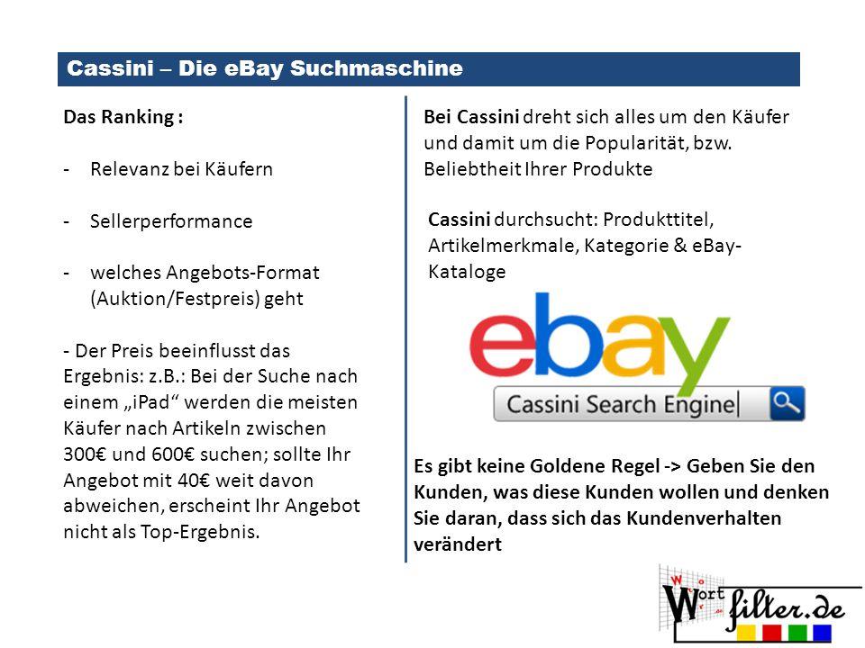Cassini – Die eBay Suchmaschine