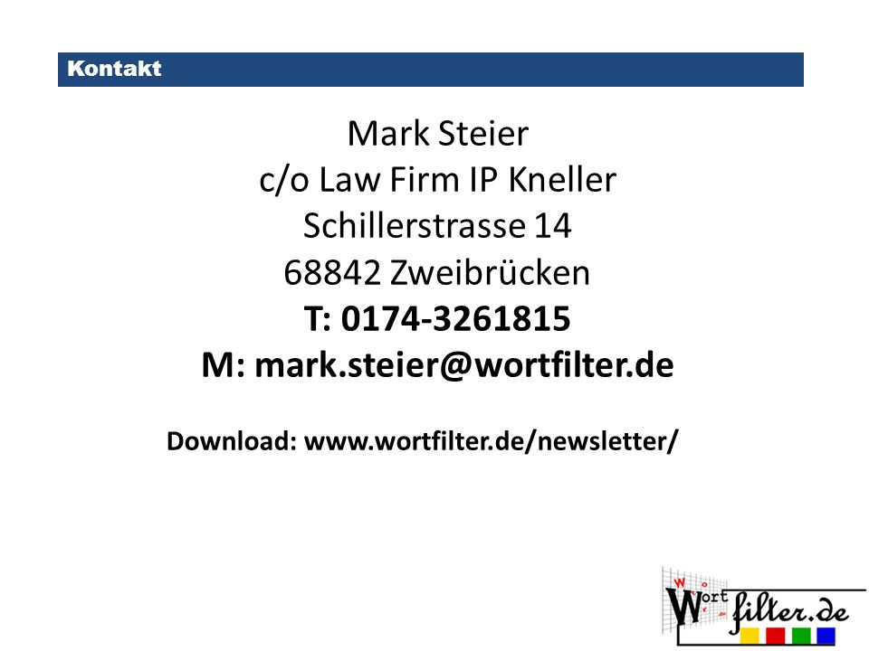 M: mark.steier@wortfilter.de
