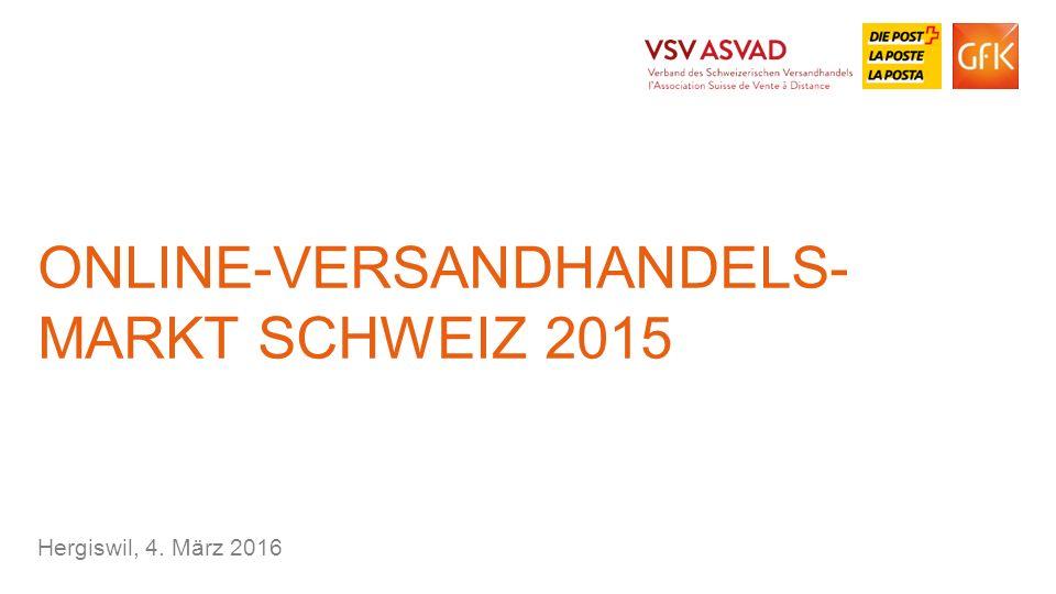 Online-versandhandels- markt Schweiz 2015