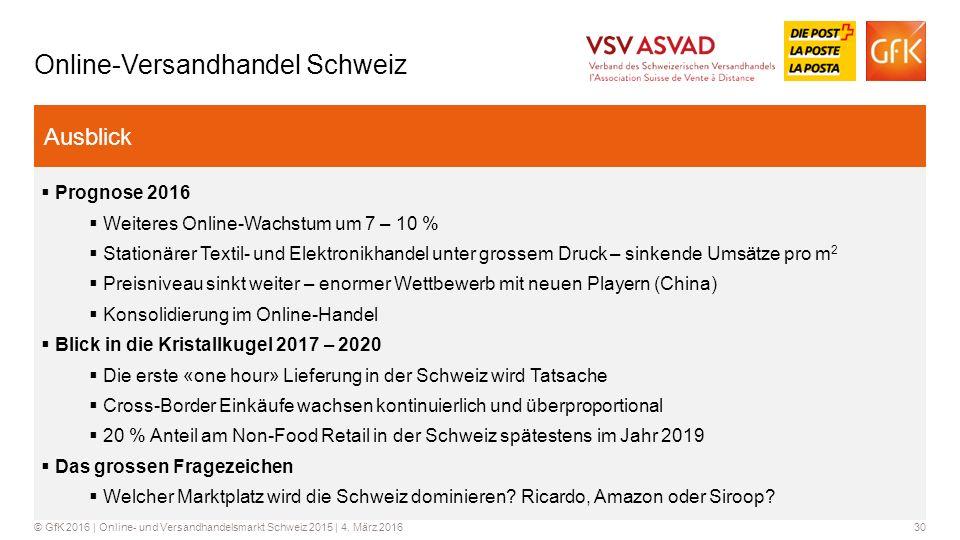 Online-Versandhandel Schweiz