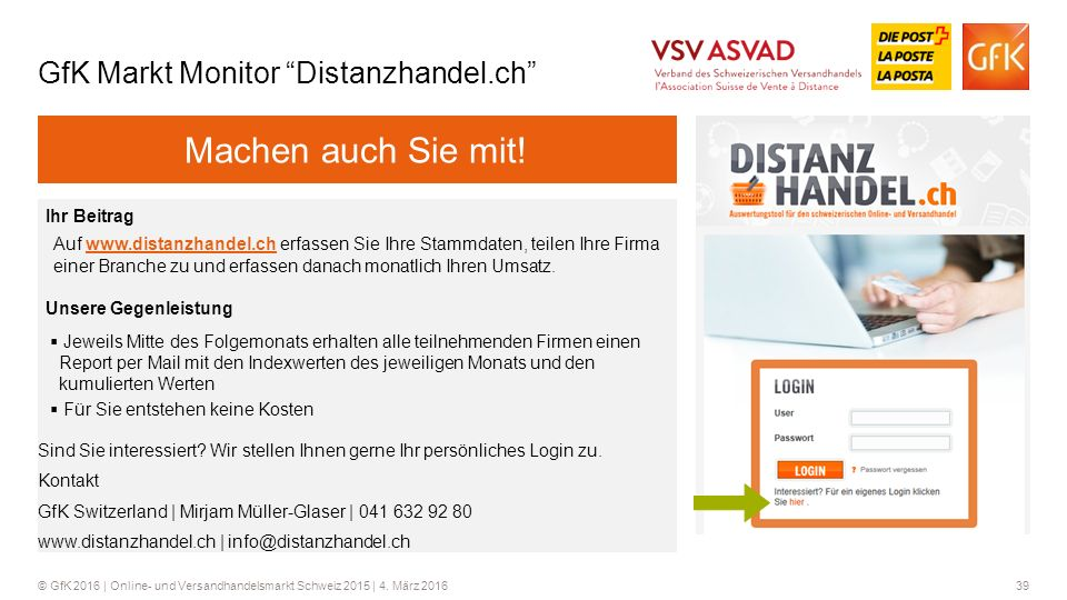 GfK Markt Monitor Distanzhandel.ch