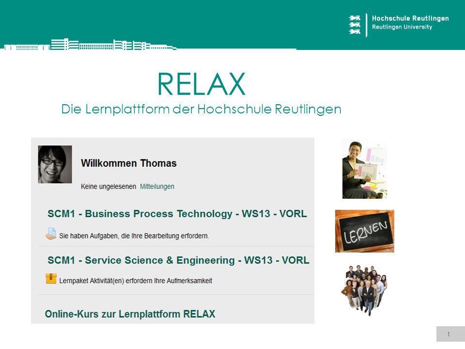 RELAX Die Lernplattform der Hochschule Reutlingen