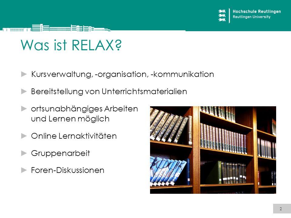 Was ist RELAX Kursverwaltung, -organisation, -kommunikation