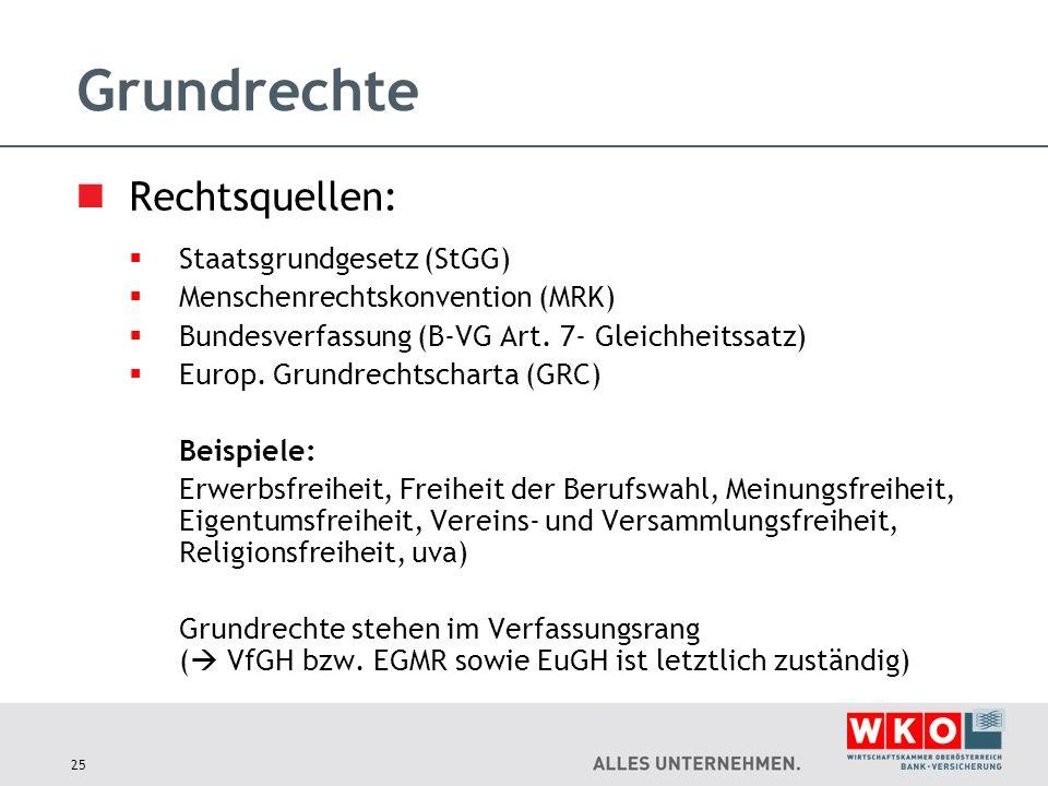 Grundrechte Rechtsquellen: Staatsgrundgesetz (StGG)