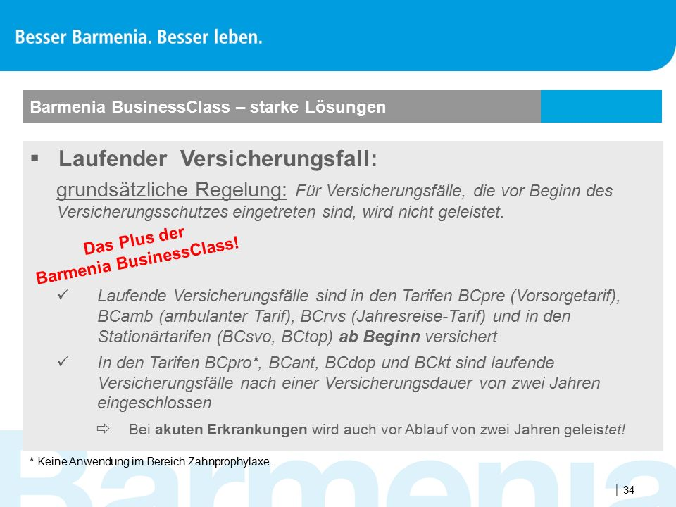Das Plus der Barmenia BusinessClass!