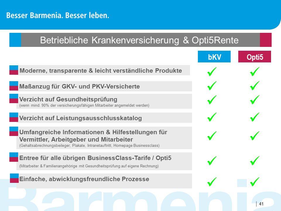 Betriebliche Krankenversicherung & Opti5Rente