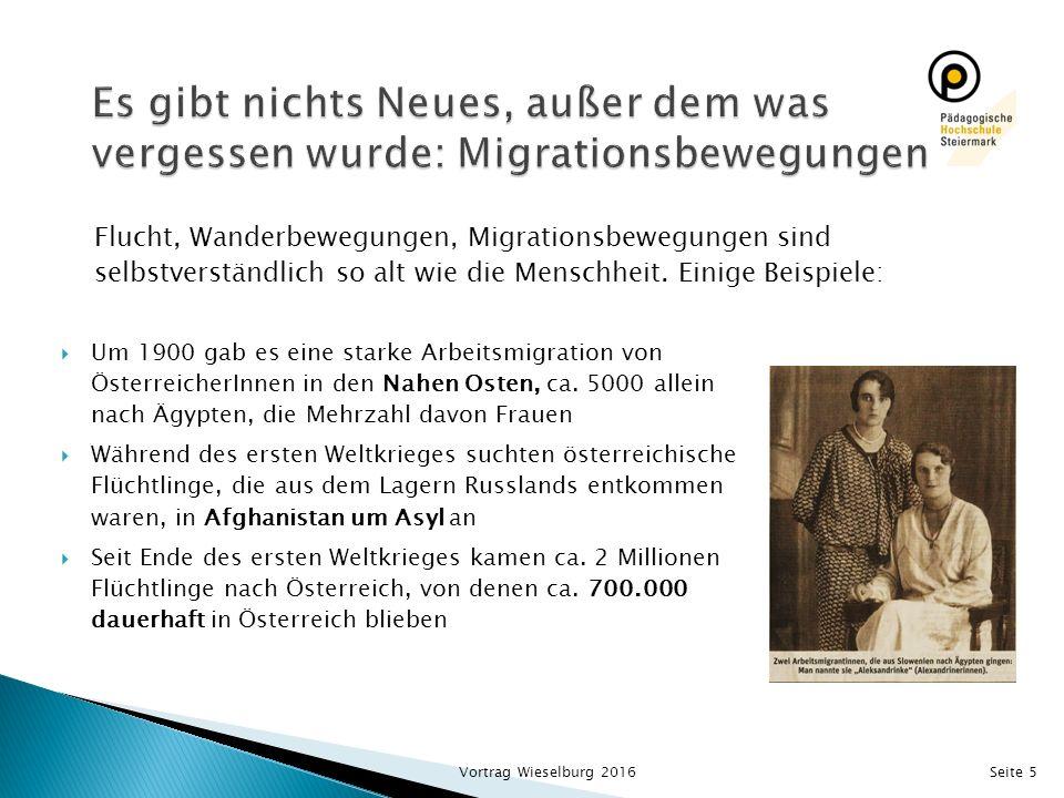 Es gibt nichts Neues, außer dem was vergessen wurde: Migrationsbewegungen