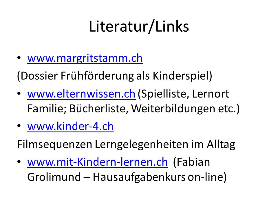 Literatur/Links