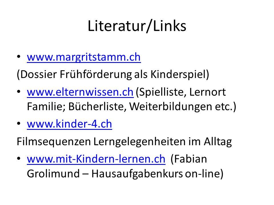 Literatur/Links www.margritstamm.ch