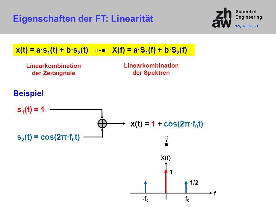 Eigenschaften der FT: Linearität