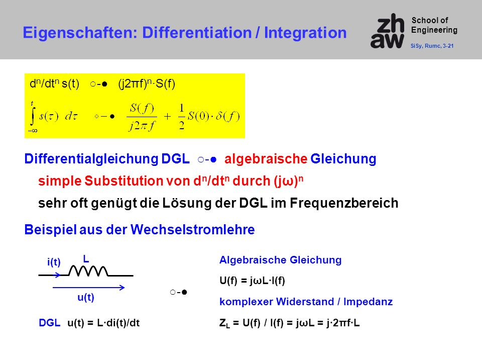 Eigenschaften: Differentiation / Integration