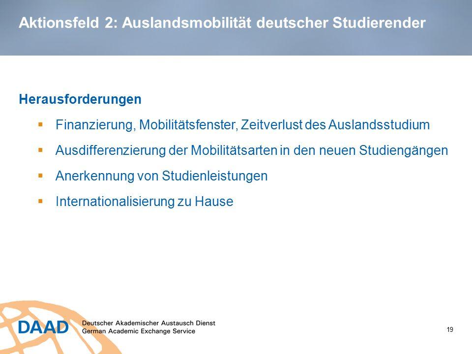 Aktionsfeld 2: Auslandsmobilität deutscher Studierender