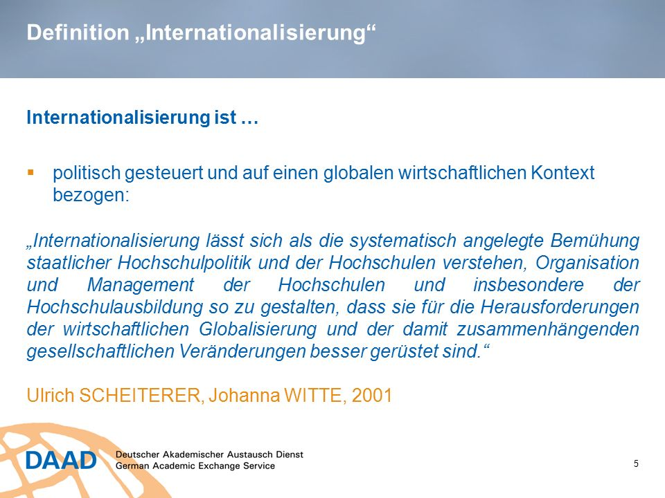 "Definition ""Internationalisierung"