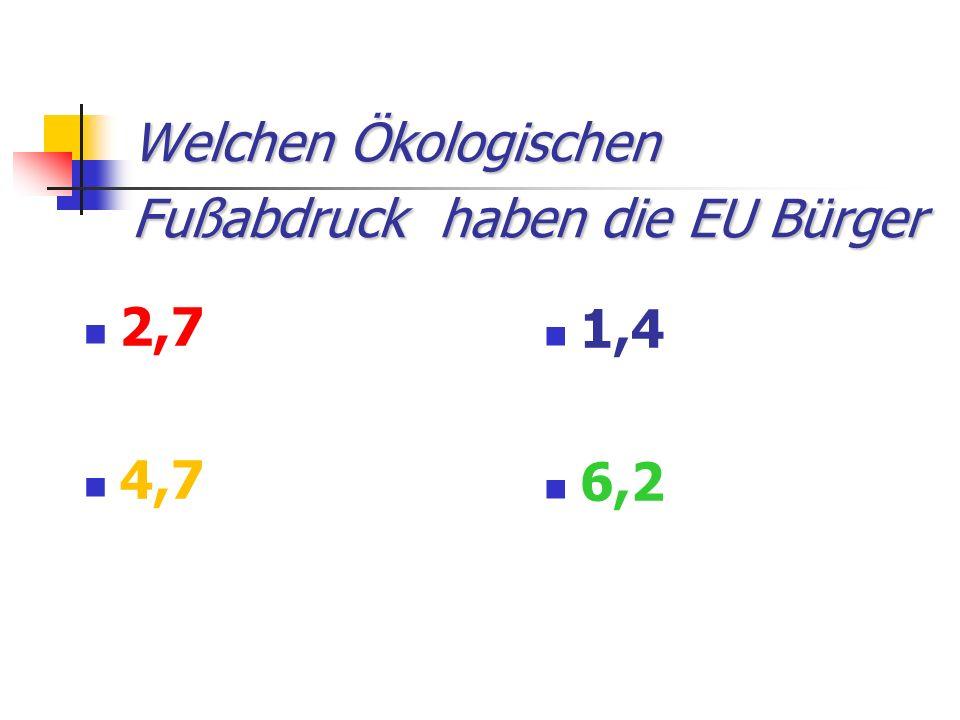 Welchen Ökologischen Fußabdruck haben die EU Bürger