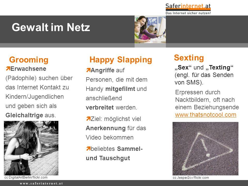 Gewalt im Netz Sexting Grooming Happy Slapping