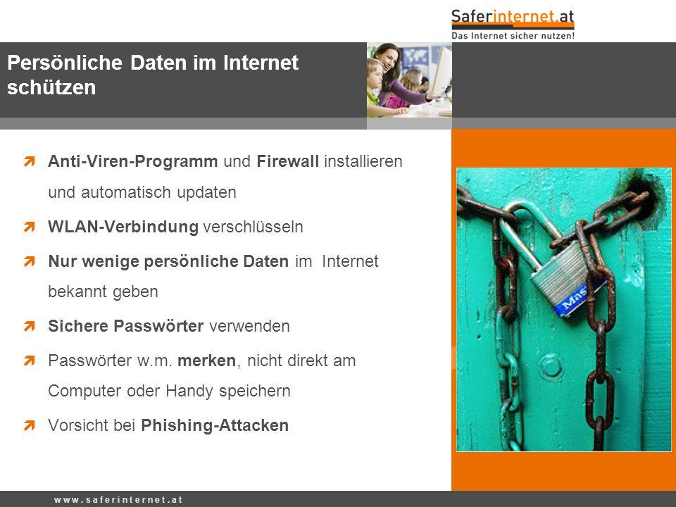 Persönliche Daten im Internet schützen
