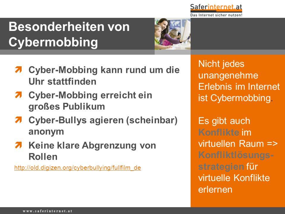 Besonderheiten von Cybermobbing