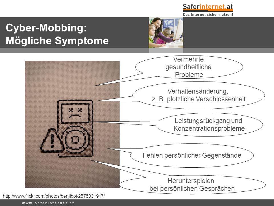 Cyber-Mobbing: Mögliche Symptome