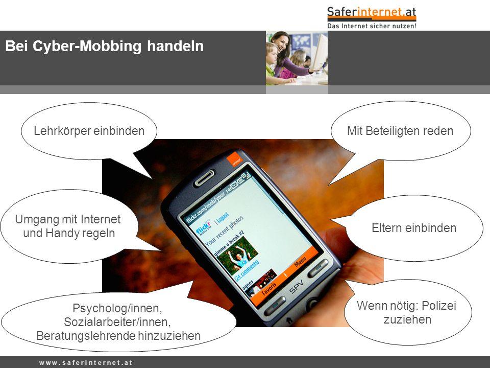 Bei Cyber-Mobbing handeln