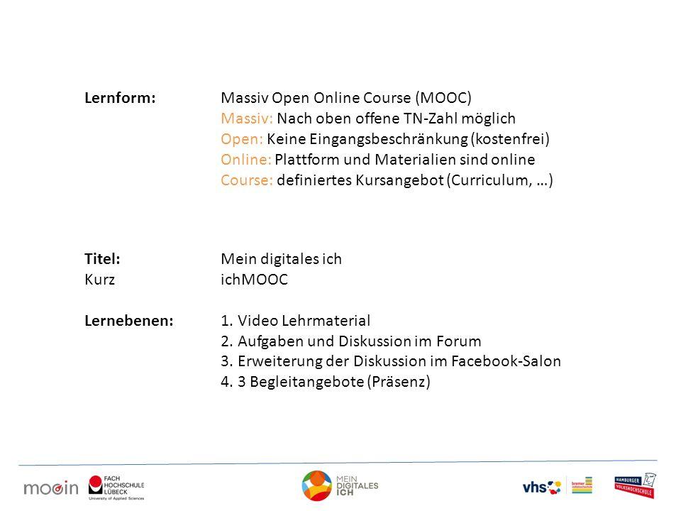 Lernform: Massiv Open Online Course (MOOC)