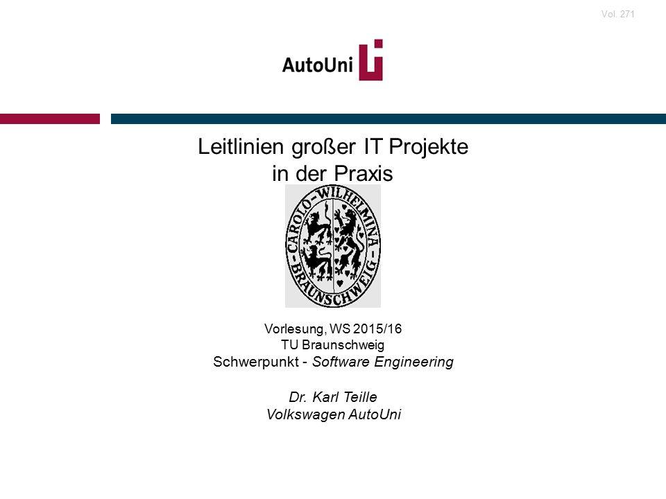 Leitlinien großer IT Projekte in der Praxis