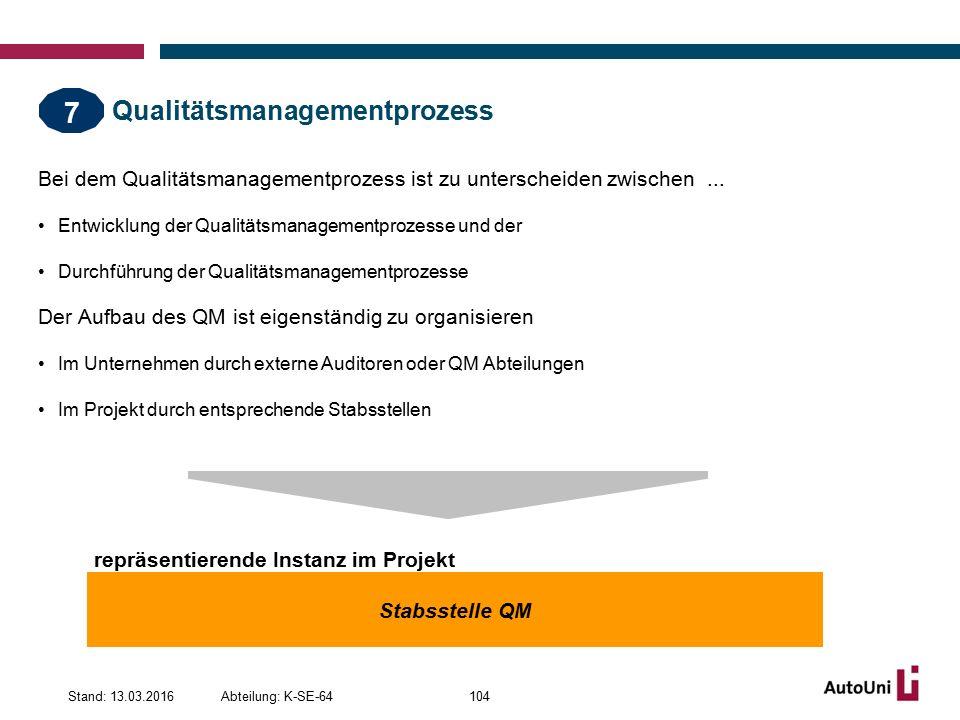 Qualitätsmanagementprozess