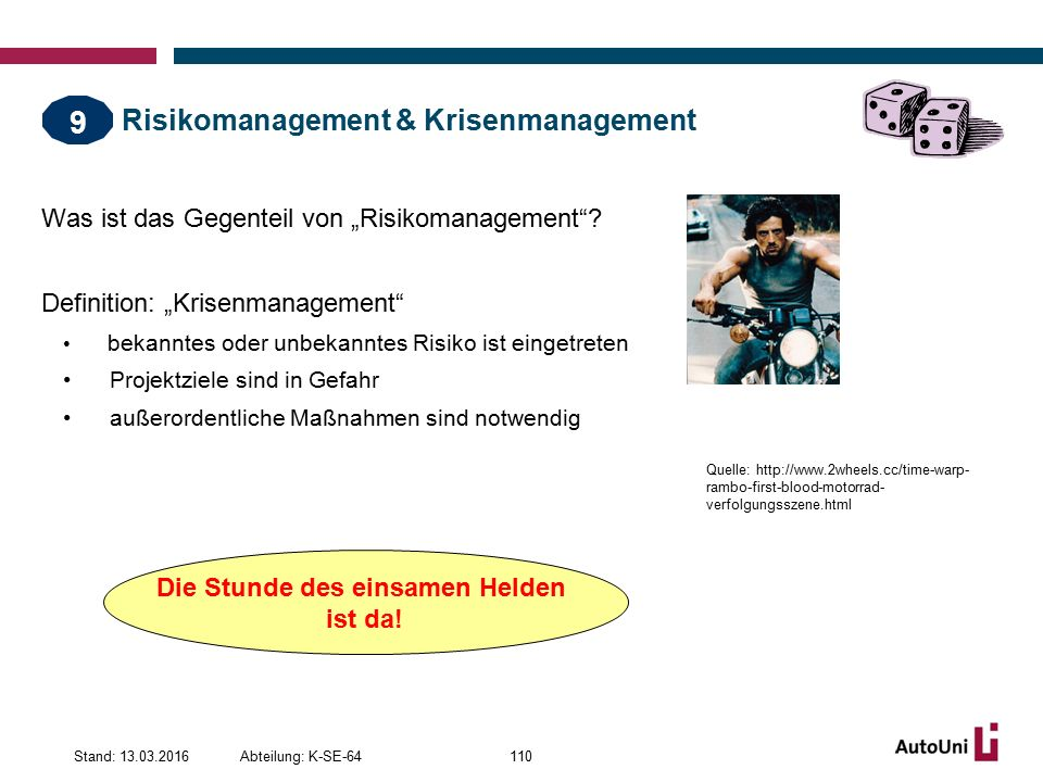 Risikomanagement & Krisenmanagement
