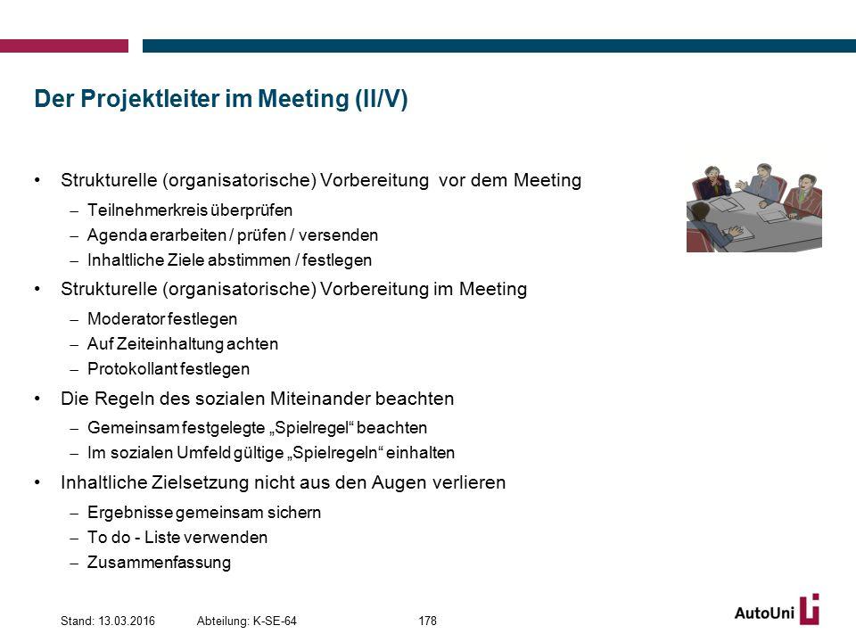 Der Projektleiter im Meeting (II/V)